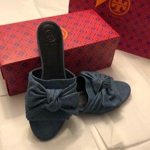 Tory Burch🔥Annabelle bow slide sandal. 8.5